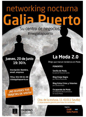 #sevillahoy: Networking nocturna en Galia Puerto: Moda 2.0