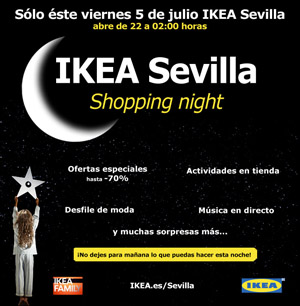 "Sevilla de Moda en ""@IKEA_Spain Shopping Night"". Viernes 5 a las 00:00 horas"