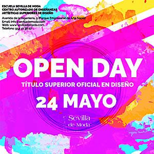 El IV Open Day «Diseño de Moda» se celebrará el 24 de Mayo por la tarde