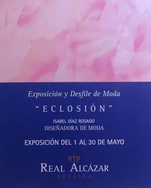 #Eclosión: Exposición de Moda adaptada en el Real Alcázar de Sevilla hasta el 30 de Mayo